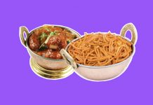 the history of Indian-Chinese fusion food