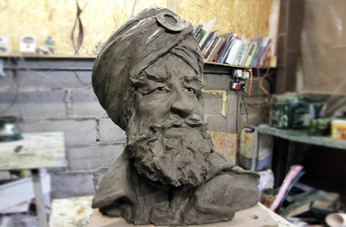 Sikh World War I monument.